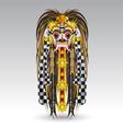 Rangda leak traditional bali demon mask vector