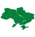 Silhouette map of ukraine vector