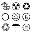 Icons of ecology vector