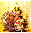 Merry christmas emblem vector