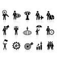 Business metaphor icons set vector