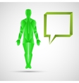 People icon and speech dialog eps10 vector