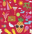 Summer vacations seamless pattern vector