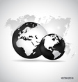 Modern globe with world map design background vector