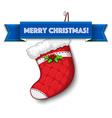 Merry christmas stocking vector