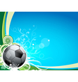 Soccer ball background vector