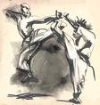Karate - hand drawn calligraphic vector