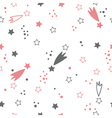 Cute seamless pattern with stars space background vector