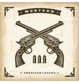 Vintage western revolvers vector