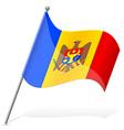 Flag of moldova vector