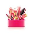 Cosmetics box isolated vector