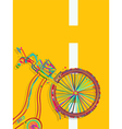 Bike card vector