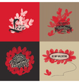 Valentines day cards with butterflies vector