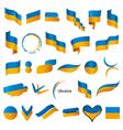 Biggest collection of flags of ukraine vector