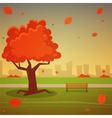 Autumn in the city vector