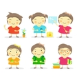 Six little girls vector