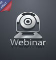 Webinar web camera icon symbol 3d style trendy vector