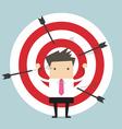 Businessman on archery targets vector