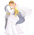 Wedding royal couple vector