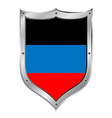 Shield with flag of donetsk vector