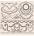 Floral monochrome design laurels wreaths frame vector