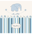 New baby boy announcement card vector