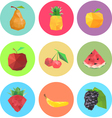 Collection of abstract origami fruits vector