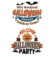 Halloween costume party invitation vector