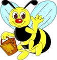 Bee cartoon vector