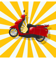 The fantastic shiny red scooter vector