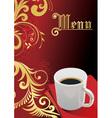 Elegant coffee vector