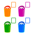 Shy recycle bin vector