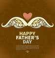 Happy fathers day vintage retro card vector