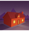 House in the night vector
