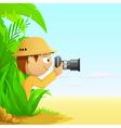 Cartoon photographer vector