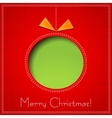 Merry christmas paper greeting card vector