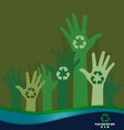 Think green ecology concept recycle symbol design vector