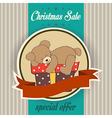 Christmas sale design with teddy bear vector