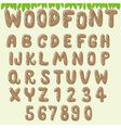 Wood font light brown vector