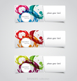 Riped abstract banner 3 vector