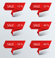 Paper red pointer sale vector