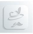Oktoberfest hat mustache icon vector