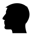Man head silhouette vector