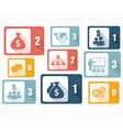 Set of design icons for business vector