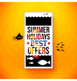 Bright summer holidays poster typography design vector