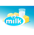 Design with milk dairy product vector