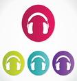 Music headphones icons vector
