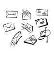 Envelopes and mail symbols vector