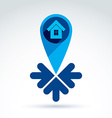 Real estate - of a house with arrows vector