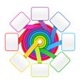 Eight elements circle vector